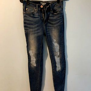 Girls Denizen Jeans Size 5 Color Blue Ripped Look
